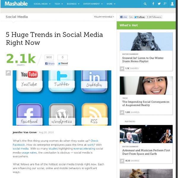 5 Huge Trends in Social Media Right Now