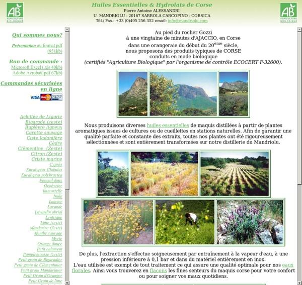 Huiles Essentielles & Hydrolats de Corse