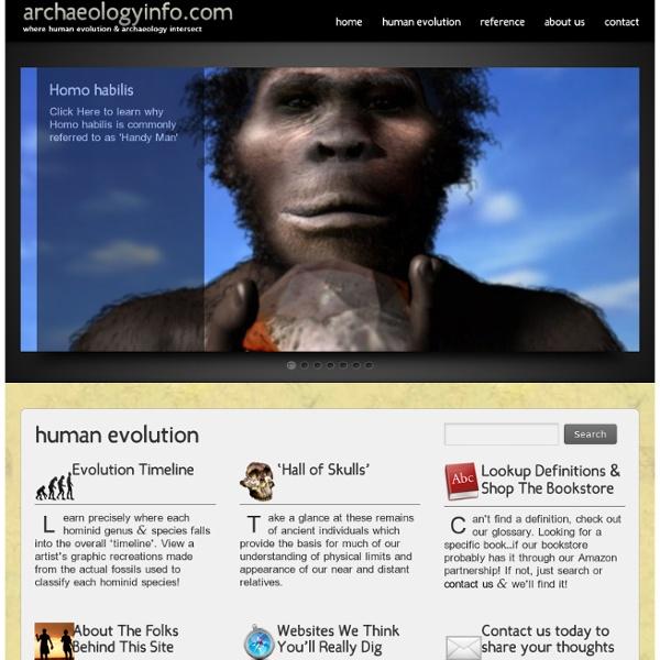 Human Evolution & Archaeology