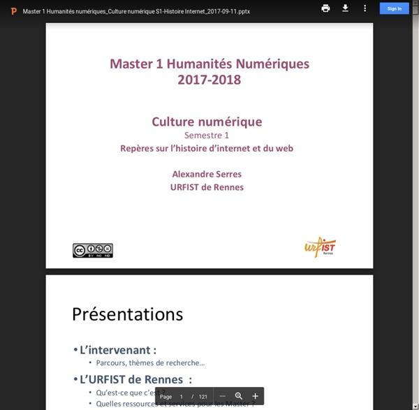 Master 1 Humanités numériques_Culture numérique S1-Histoire Internet_2017-09-11.pptx