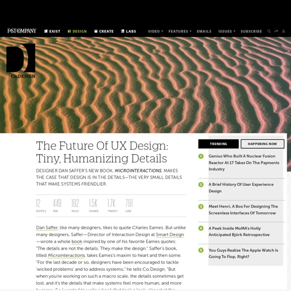 The Future Of UX Design: Tiny, Humanizing Details