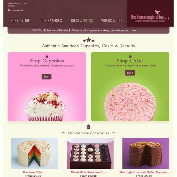 Hummingbird Bakery, London. American style Cupcakes, Cake & Cookbooks
