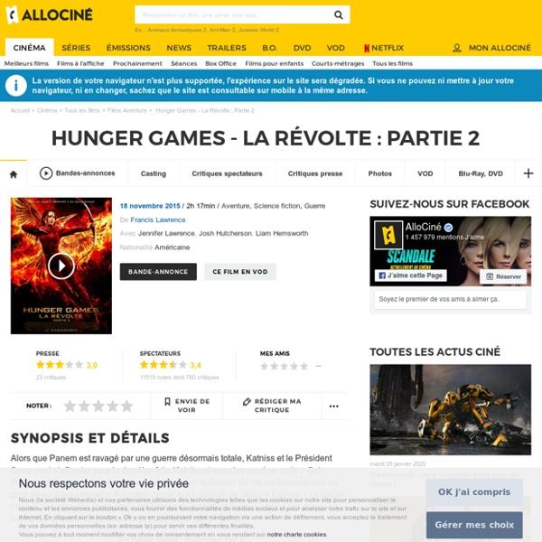 Hunger Games - La Révolte : Partie 2 - film 2015