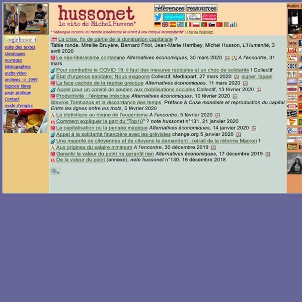 Hussonet portail Michel Husson