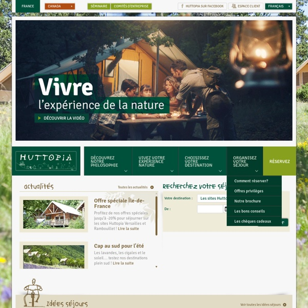 Camping nature en France, camping vert en foret, camping original