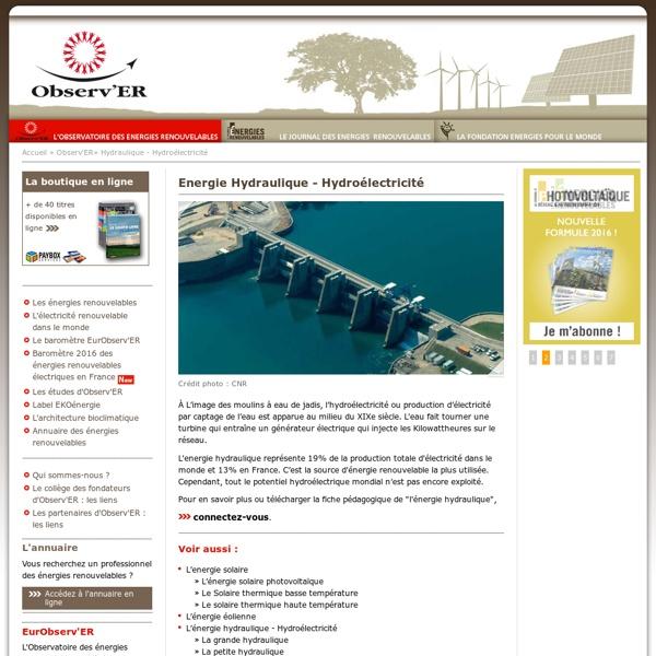 Energie Hydraulique - Hydroélectricité