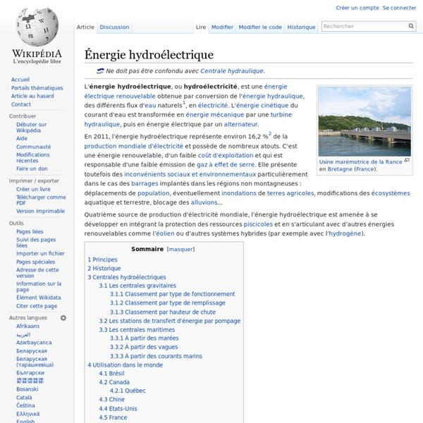 Énergie hydroélectrique