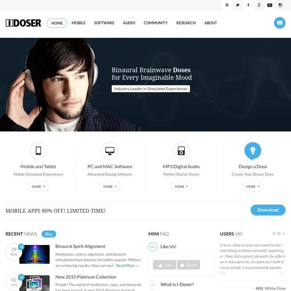 I-Doser.com: Digital Doses
