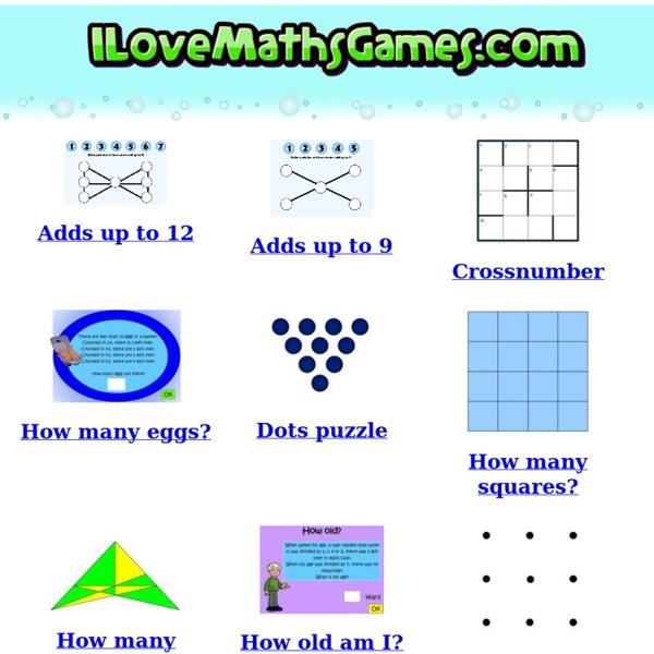 I Love Maths Games