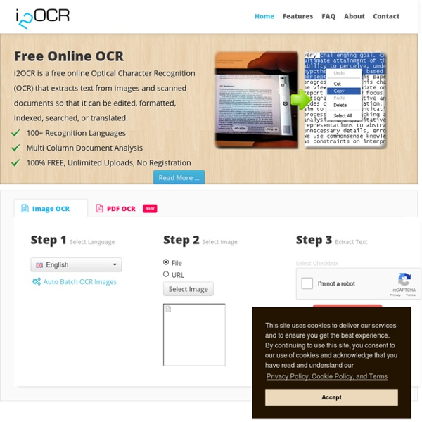 i2OCR - Free Online OCR