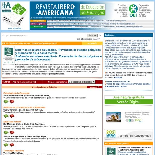 RIE - Revista Iberoamericana de Educación