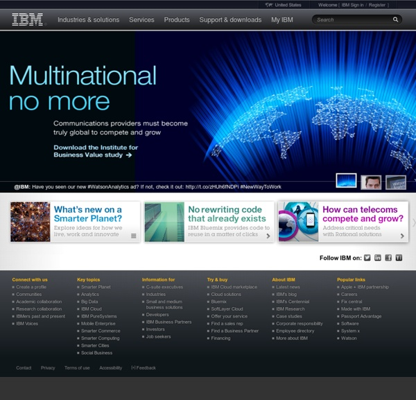 DeveloperWorks : IBM\'s resource for developers and IT professio