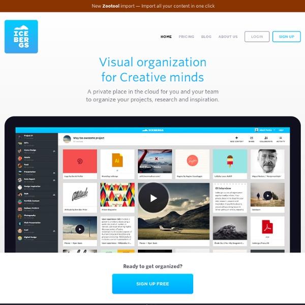 Visual organization for creative minds