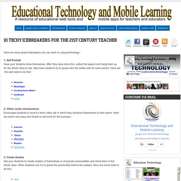 10 Techy Icebreakers for The 21st Century Teacher