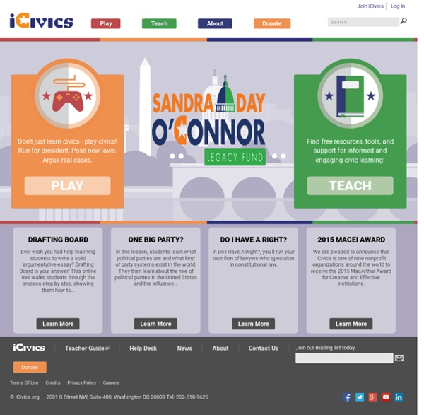 Free Lesson Plans and Games for Learning Civics