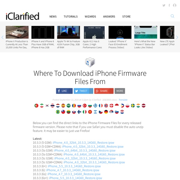 Download iOS Firmware for iPhone, iPad, iPod Touch