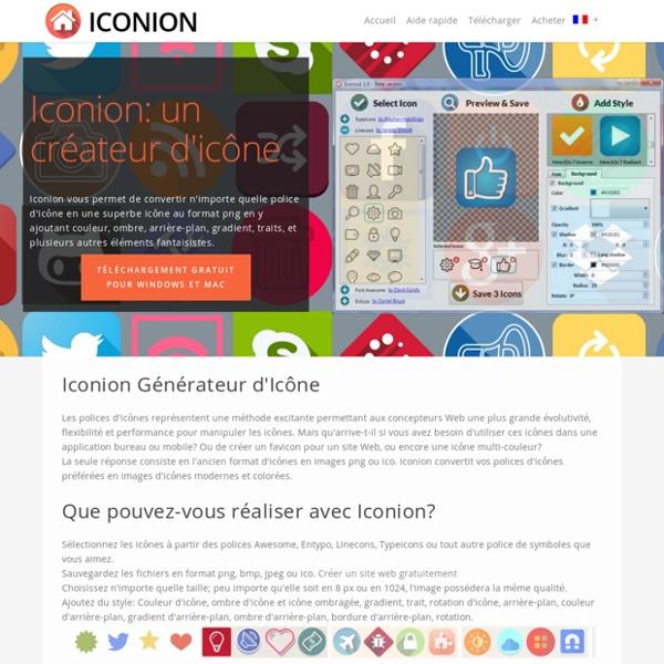 Création d'icône gratuit