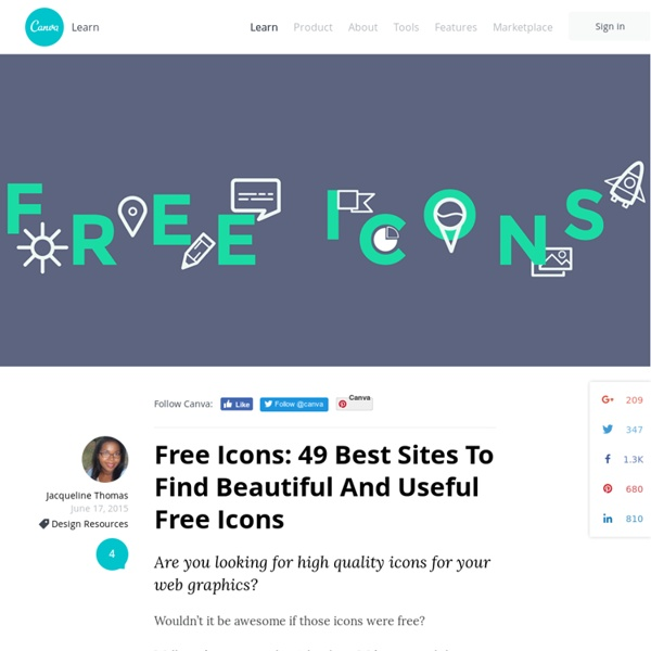 Free Icons: 50 Best Sites To Find Beautiful And Useful Free Icons
