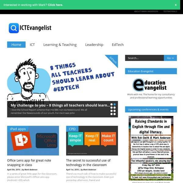 ICTEvangelist - education, learning & technology
