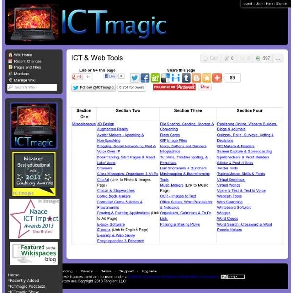ICT & Web Tools
