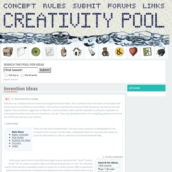 Ideas by Creativity Pool