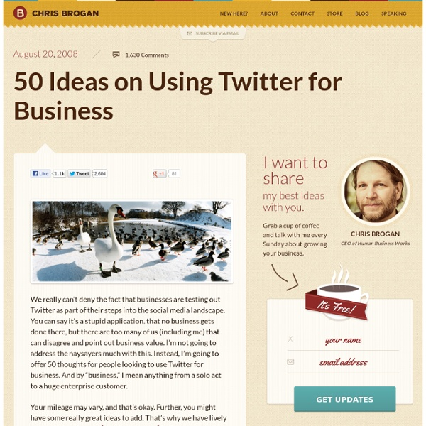 50 Ideas on Using Twitter for Business