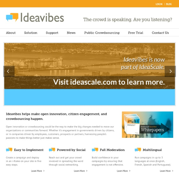Ideavibes™ - The crowd is speaking. Are you listening?