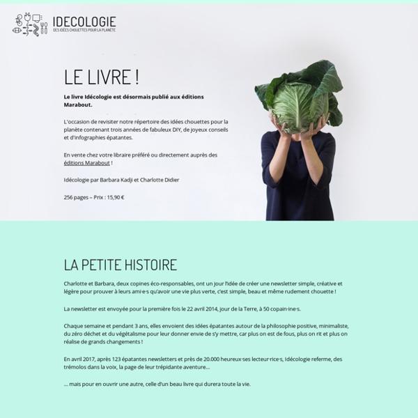 Idecologie - Une idée chouette pour la planète une fois par semaine !