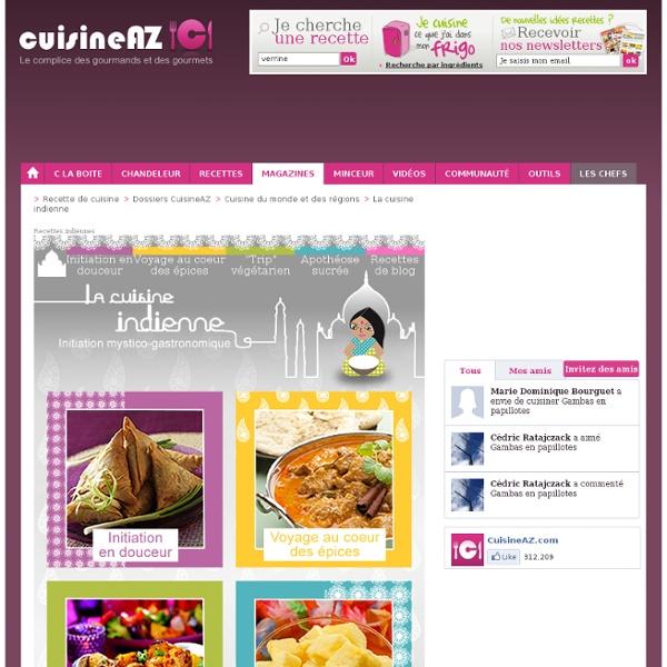 Idées recette : cuisine indienne.