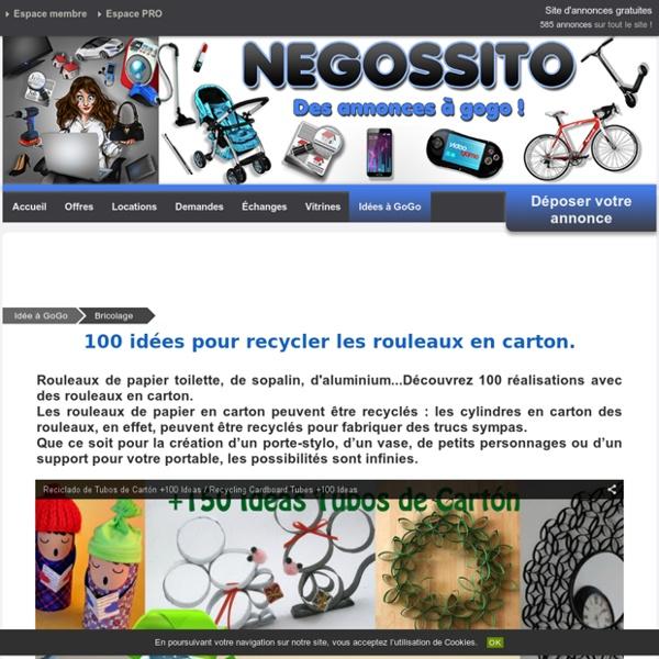 100 idées pour recycler les rouleaux en carton.