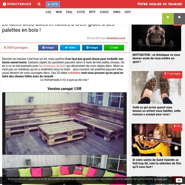 20 idées déco utiles et faciles à créer grâce à des palettes en bois !