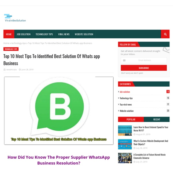 Top 10 Most Tips To Identified Best Solution Of Whats app Business