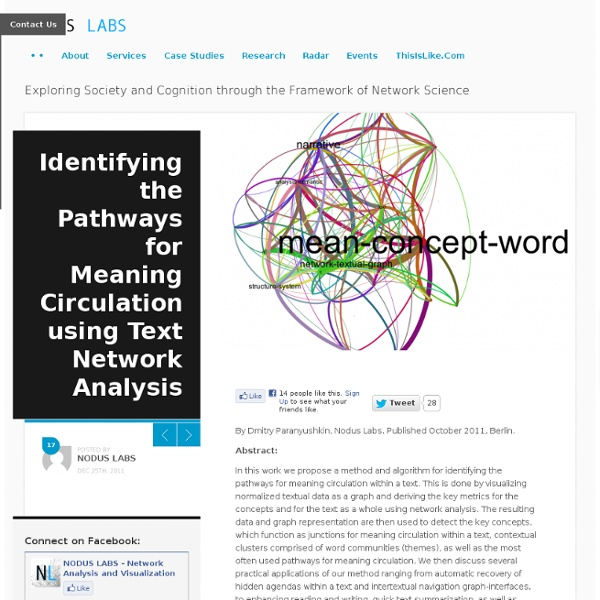 Identifying the Pathways for Meaning Circulation using Text Network Analysis