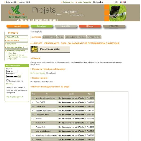 IdentiPlante - Outil collaboratif de détermination floristique