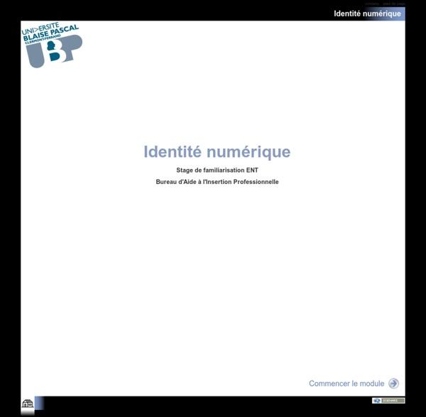 Module de formation - Identité numérique