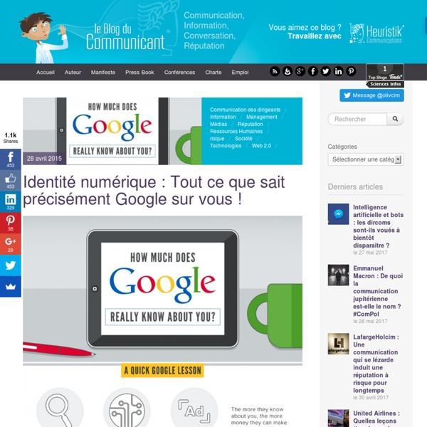 Identité numérique : Tout ce que sait précisément Google sur vous