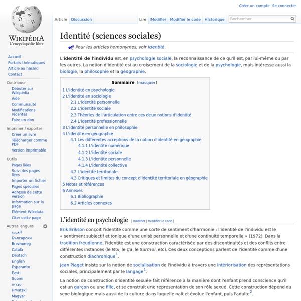 Identité (sciences sociales)