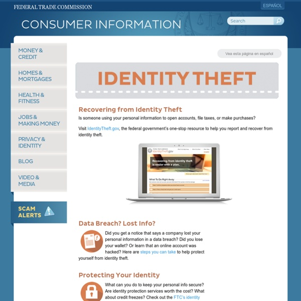 Deter. Detect. Defend. Avoid ID Theft