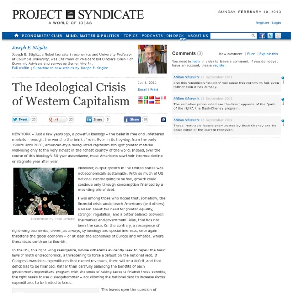 The Ideological Crisis of Western Capitalism - Joseph E. Stiglitz