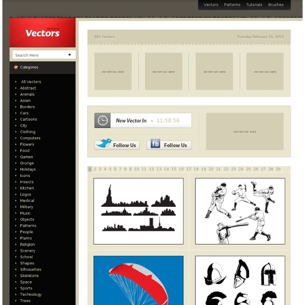 iDesign * Vectors - Featuring the best Free Vectors from around the web. Updated Daily!
