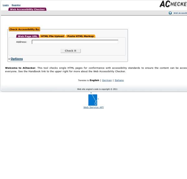 IDI Web Accessibility Checker : Web Accessibility Checker