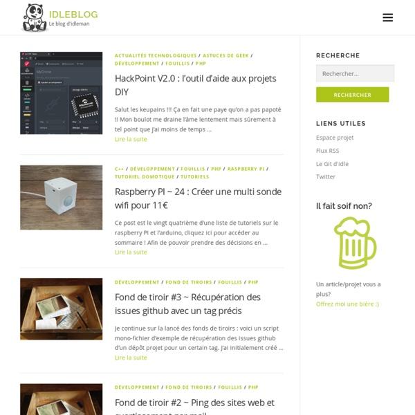 Le blog d'idleman: dev, graphisme, conception, analyse projet
