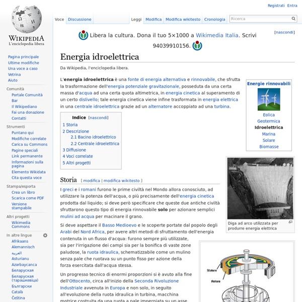 Energia idroelettrica(wikipedia)