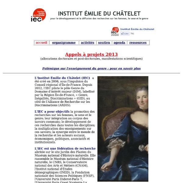 IEC Page d'accueil