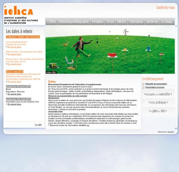 IEHCA : Institut européen d'histoire et des cultures de l'alimentation