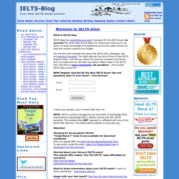 IELTS-Blog - IELTS exam preparation for free