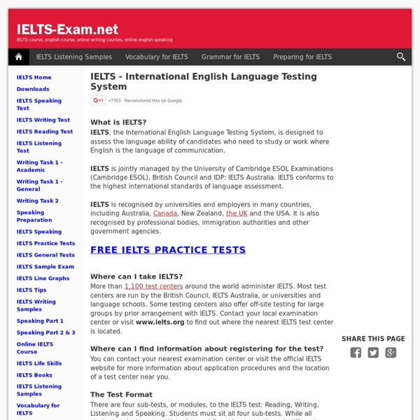 IELTS Home | Pearltrees