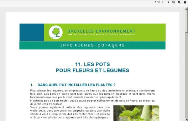 Les pots pour fleurs et légumes