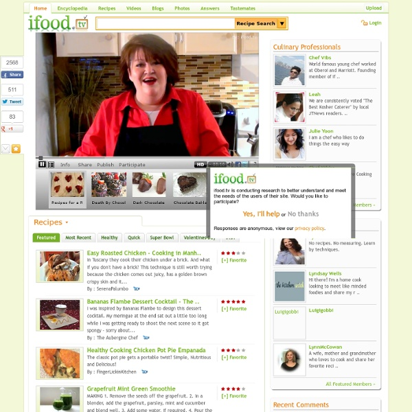 Your Food Network - Food Video Recipes Blog