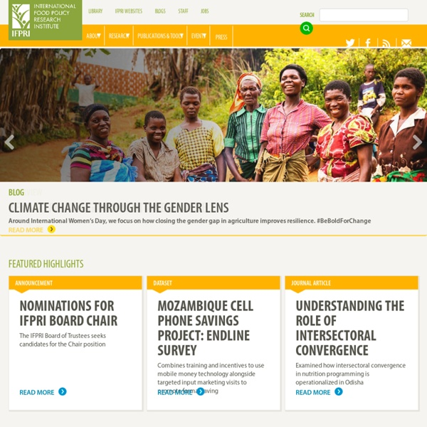 International Food Policy Research Institute (IFPRI)